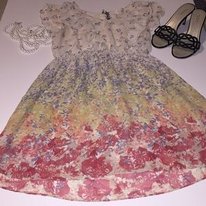Sheer floral dress by Lauren Conrad sz8